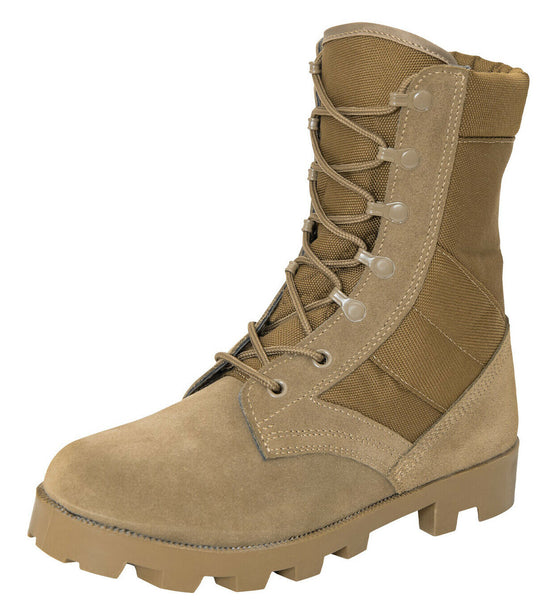 US Army AR 670-1 Coyote Brown GI Speedlace Combat Jungle Boot Rothco 5741