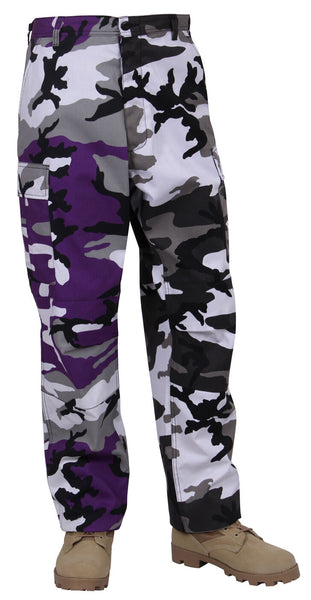 Purple Two Tone City Camo Pants Military BDU Cargo Fatigue Trouser Rothco 1840