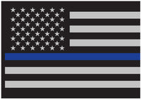 auto decal police thin blue line usa us flag for windows and cars rothco 1293