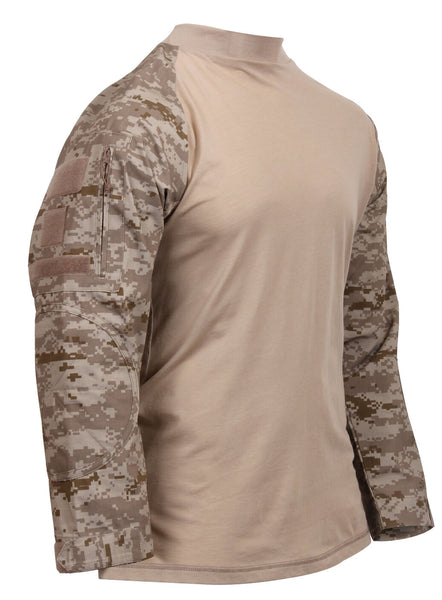 Tactical Airsoft Paintball Combat Shirt Desert Digital Camo Rothco 45020