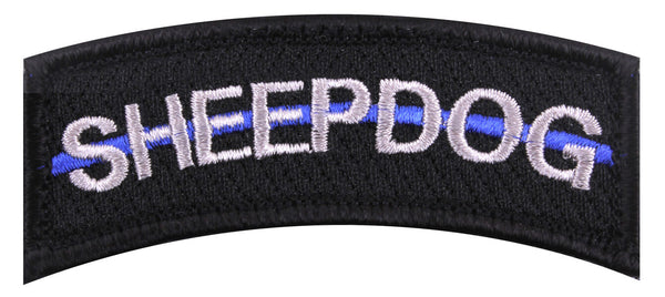 sheepdog police thin blue line patch embroidered hook backing rothco 7473