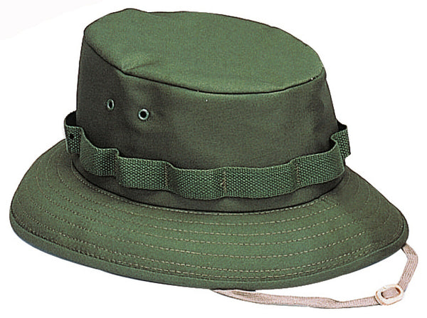 OD Booniehat Sun Jungle Boonie Hat Wide Brim Olive Drab Green Summer Rothco 5555