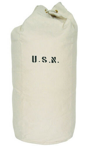 "usn us navy sea bag duffle canvas heavyweight 26"" x 34"" fox outdoor 40-05"