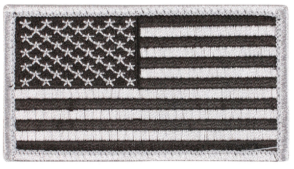 Silver US USA Flag Patch Tactical Hook Backing For Operator Cap Hat Rothco 17781