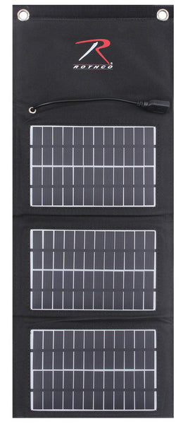 Tactical MOLLE Solar Panel With 5000 MAH Power Bank Black Modular Rothco 2117
