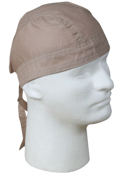 head wrap khaki solid color biker bikers rothco 5138