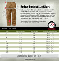 BDU Pants Relaxed Fit Cargo Uniform Trousers Coyote Brown Zipper Fly Rothco 2904