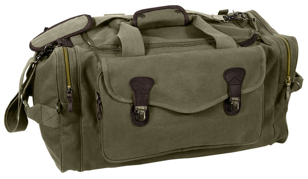 Long Weekend Travel Canvas Bag Olive Shoulder Strap Carry Handle Rothco 8789