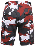 shorts red camo cargo bdu military style camouflage mens rothco 65221