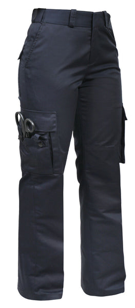 Womens 9 Pocket Tactical EMS Dark Navy Blue EMT Medic Uniform Pants Rothco 5658