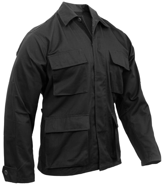 black bdu shirt coat military style 4 pocket coat rothco 7970