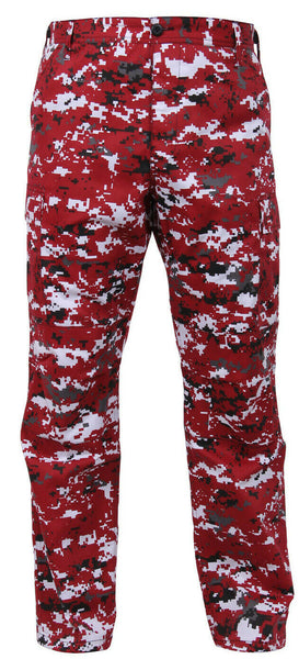 military style cargo pants bdu trousers red digital camo rothco 99640