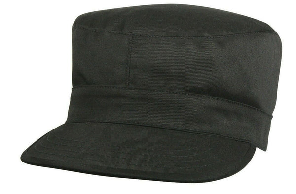 Black BDU Cap Military Style Fatigue Uniform Hat Rothco 9340