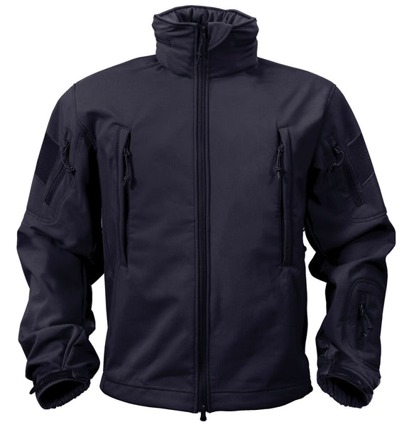 Tactical Soft Shell Jacket Navy Blue Waterproof Windproof Rothco 9511
