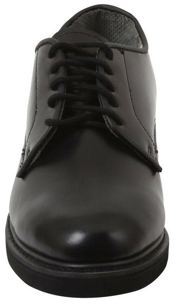 oxford dress shoes uniform leather black rothco 5085 various sizes
