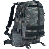 Dark Camo Large Transport Pack Backpack Tactical Travel Bag Fox Outdoor 56-436