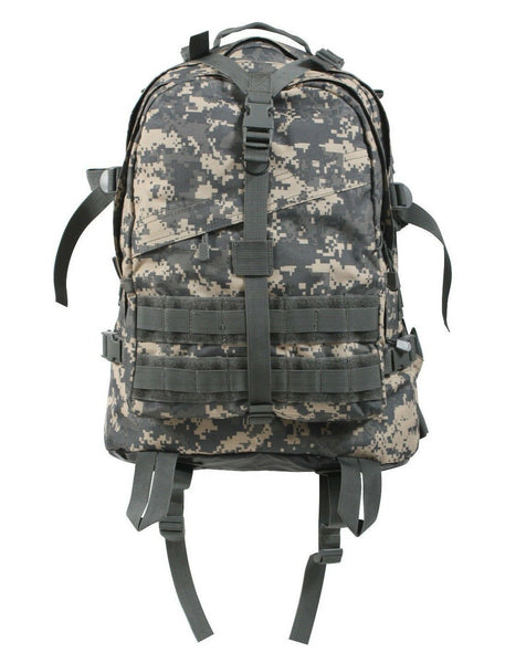 large military style transport pack backpack acu digital camo bag rothco 7237