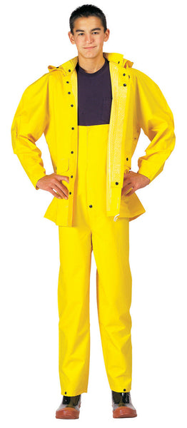 Yellow Rain Jacket Pants Heavyweight 2 Piece PVC Deluxe Rainsuit Rothco 3620