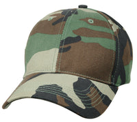 Woodland Camo Cap Ballcap Hat Low Profile Ships In No Crush Box Rothco 8285