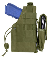 modular pistol holster molle olive drab ambidextrous left or right rothco 10489