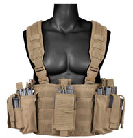 operators chest rig vest molle modular tactical with pouches coyote rothco 67551