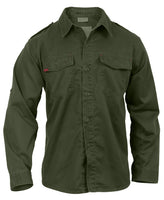 Vintage Military Style Fatigue BDU Shirt Washed Olive Drab Rothco 2568