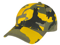 Low Profile Camo Cap Yellow Stinger Camouflage Baseball Hat Rothco 3553