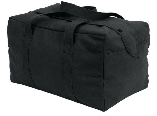 Black Military Canvas Small Cargo Bag Parachute Style Rothco 8107