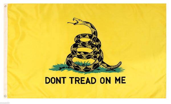 flag 2' x 3' don't tread on me polyester yellow rothco 1567