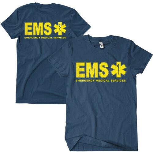 t-shirt ems medic emt 2 sided print various sizes fox outdoor 64-627