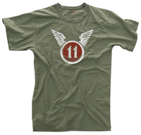 US Army 11th AB T-shirt Airborne Tee Shirt Vintage Distressed Print Rothco 66630