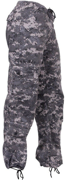 Womens Military Style Camo Cargo Pants Urban Digital Camouflage Rothco 3991