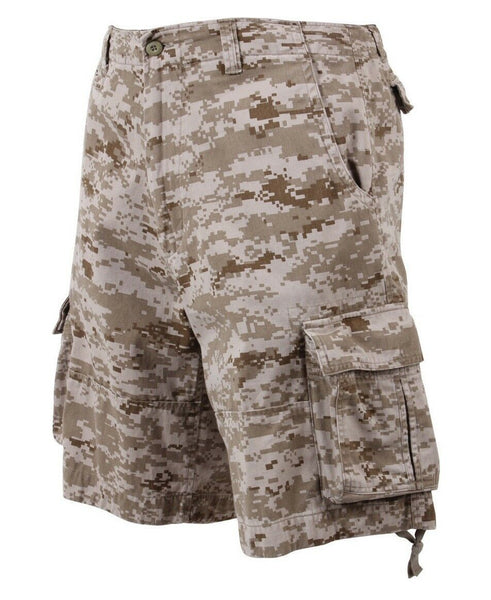 shorts camo cargo infantry vintage military style desert digital rothco 2760