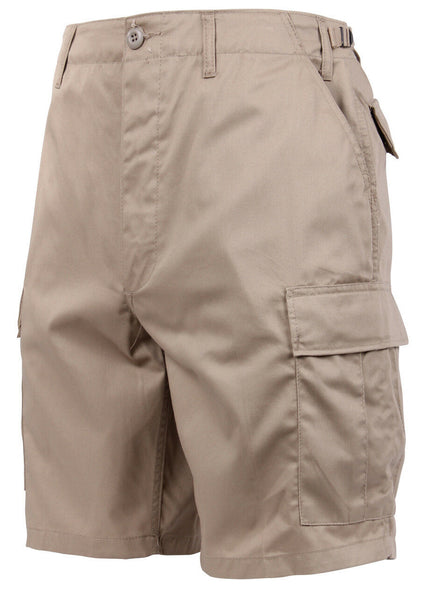 Mens Khaki Military BDU Cargo Shorts Rothco 65203