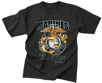 t-shirt marines usmc marine corps black first to fight rothco 80280