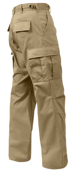 Tactical Work Pants BDU Style Relaxed Fit Cargo Trousers Khaki Rothco 2931