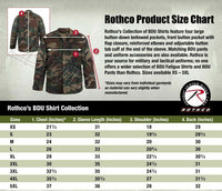 woodland digital camo bdu shirt military style camouflage coat rothco 8690