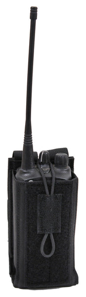 Black MOLLE Radio Pouch Universal Fit Tactical Police EMS Security Rothco 5229