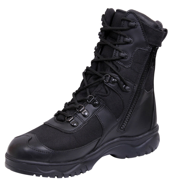 Black Military Boot V-Motion Flex Leather Combat Boots Rothco 5087