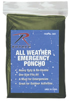 20 Pack Wet Weather Rain Poncho Waterproof Polyethylene 50x80 Rothco 3681