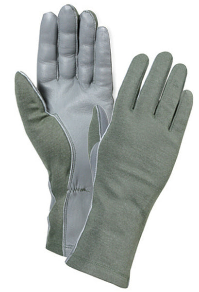 OD Olive Drab Flame Heat Resistant Military Style Flight Gloves Rothco 3457