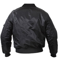 Black Military MA-1 CCW Bomber Coat Flight Jacket Concealed Carry rothco 77350