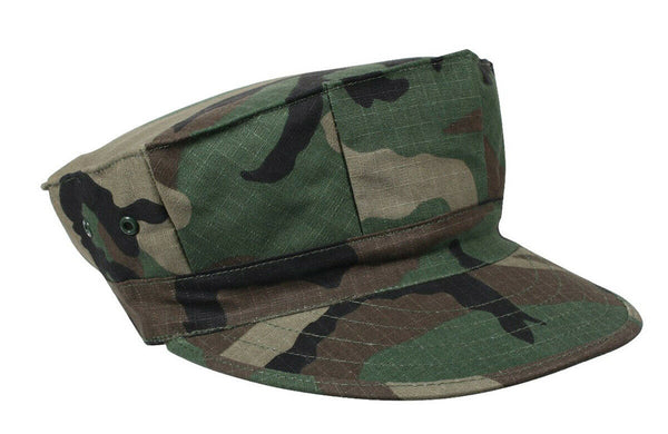 Woodland Camo USMC 8 Point Cap Marines Style Fatigue Rip Stop Hat Rothco 5633