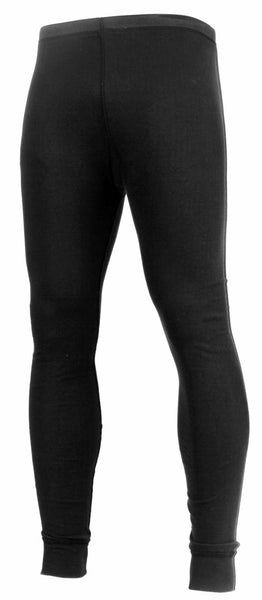 Thermal Cotton Polyester Bottom Pants Mid Weight Black Rothco 2837