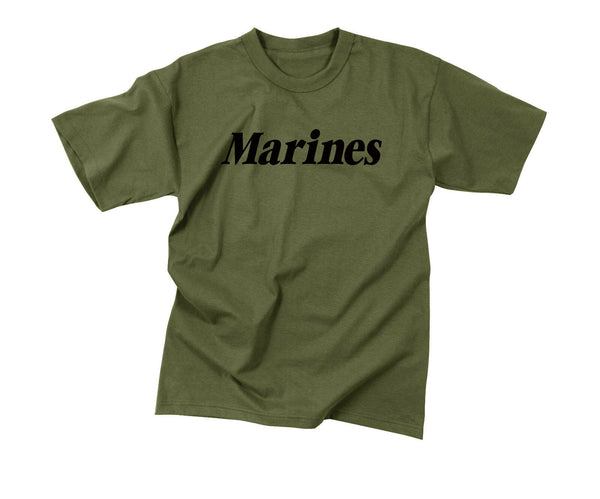 Marines OD PT T-shirt USMC Marine Corps Olive Drab Work Out Shirt Rothco 60157