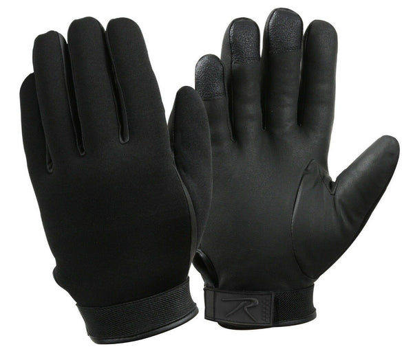 gloves neoprene black cold weather duty waterproof various sizes rothco 3558