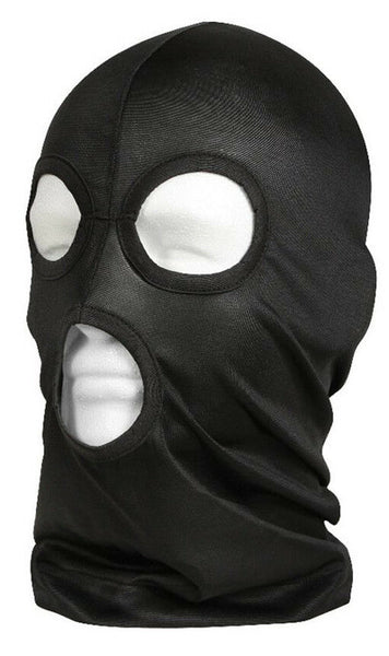 3 Hole Lightweight Facemask Black Breathable Polyester Rothco 5563