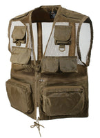 Travel Recon Vest Tactical Lightweight Coyote Water Resistant Nylon Rothco 8647
