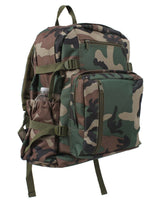 "backpack pack woodland camo 18"" with top carry handle rothco 88557"