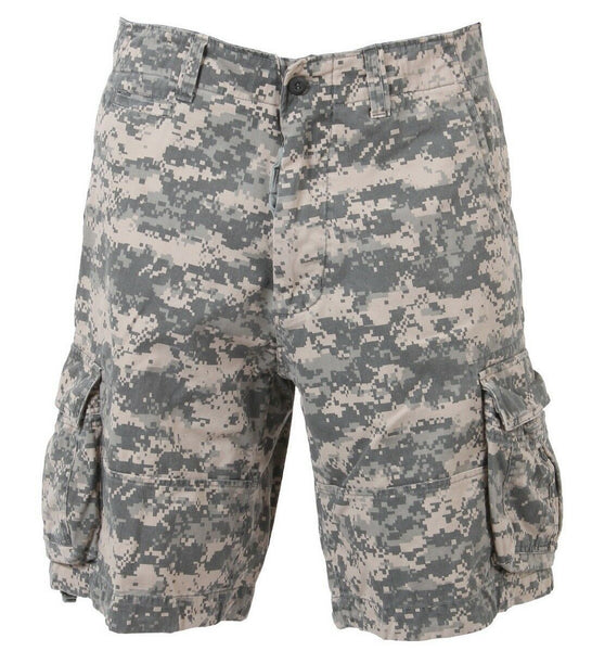 shorts camo vintage military style acu digital infantry cargo mens rothco 2520